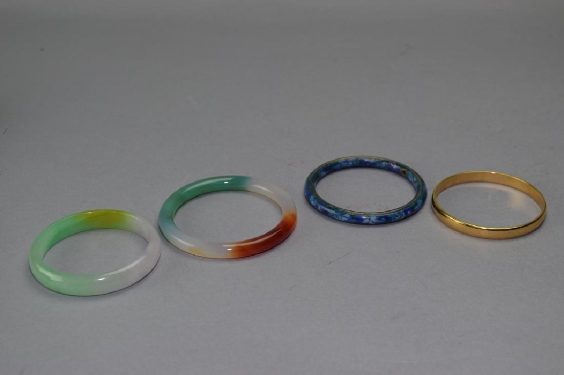 Group of Chinese Bangle Bracelets