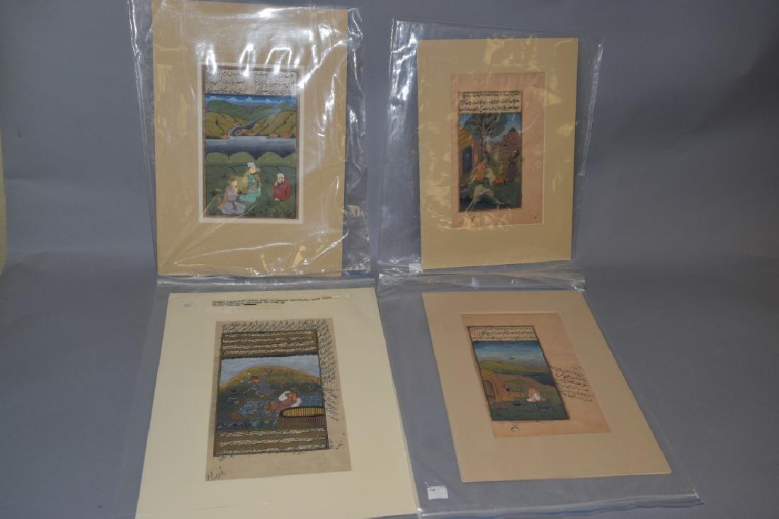 Group of Arabian Painted Scripts