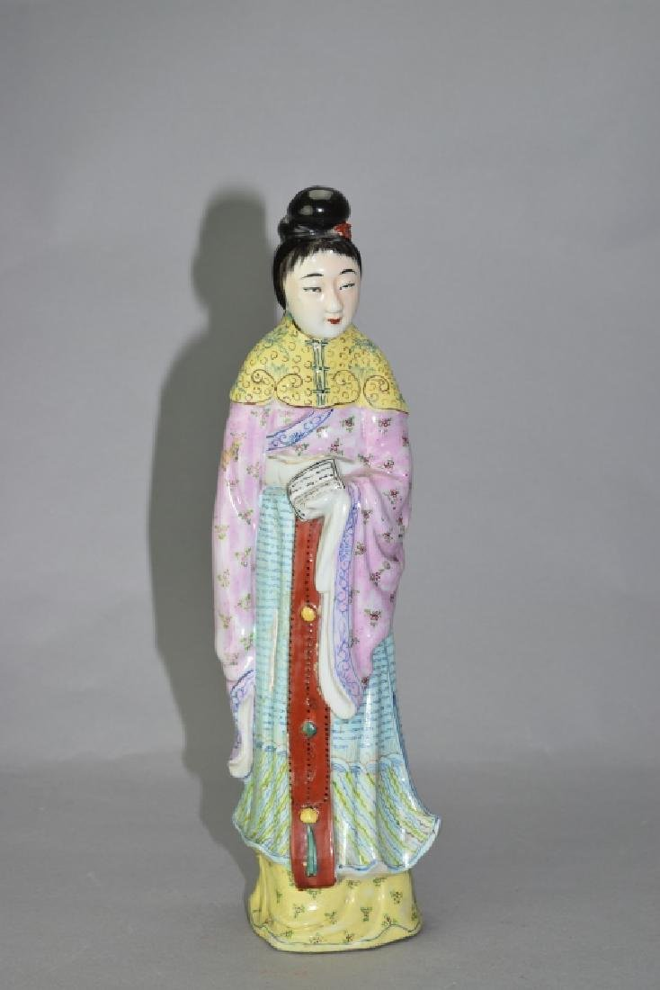 Republic Chinese Famille Rose Maiden
