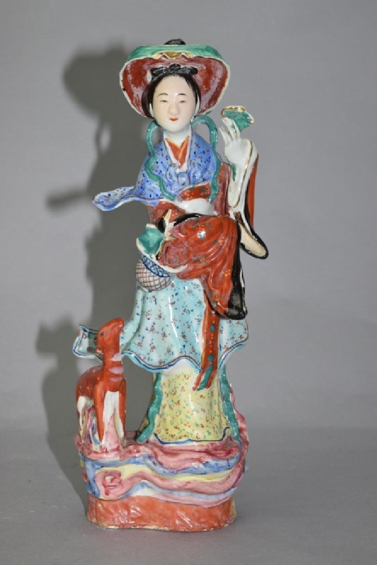 Republic Chinese Famille Rose MaGu Figure