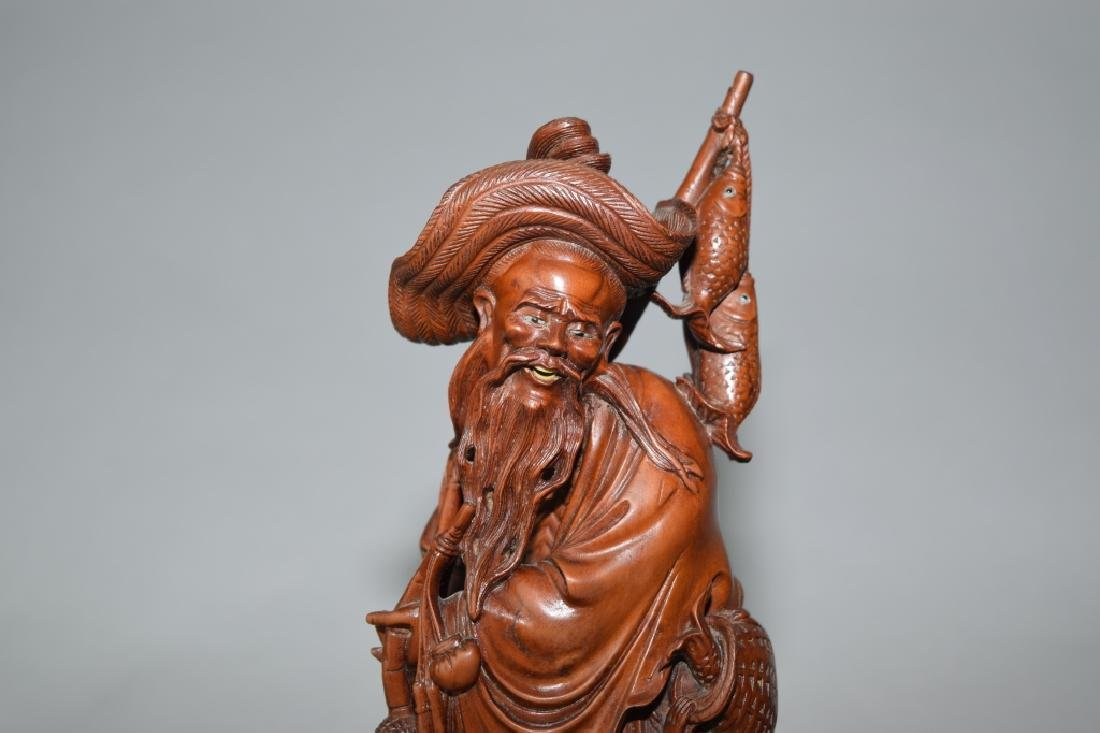 Chinese Huangyang Carved Fishman