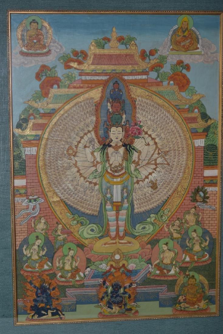 Qing Dynasty Tibetan Eleven-Face Guanyin Thangka