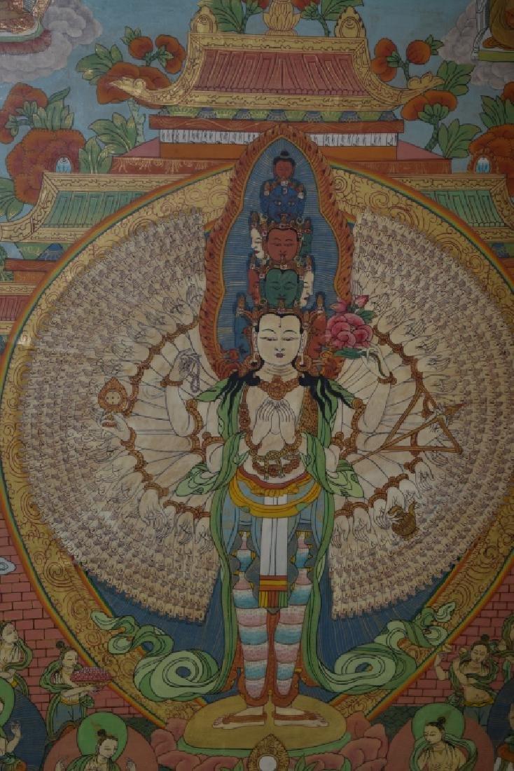 Qing Dynasty Tibetan Eleven-Face Guanyin Thangka - 2