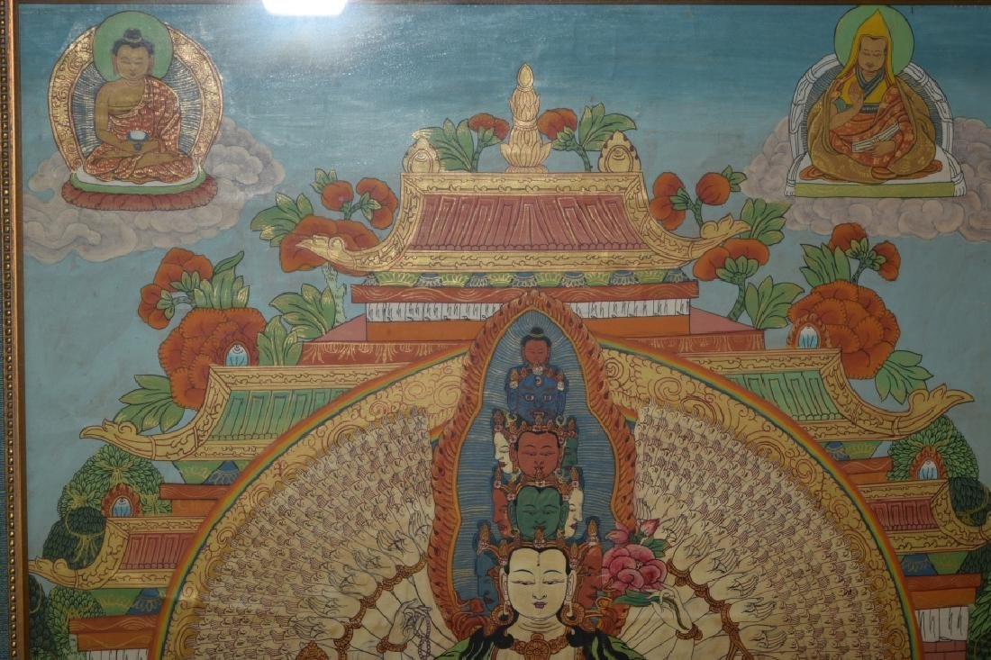 Qing Dynasty Tibetan Eleven-Face Guanyin Thangka - 3