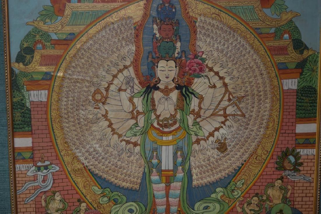 Qing Dynasty Tibetan Eleven-Face Guanyin Thangka - 4
