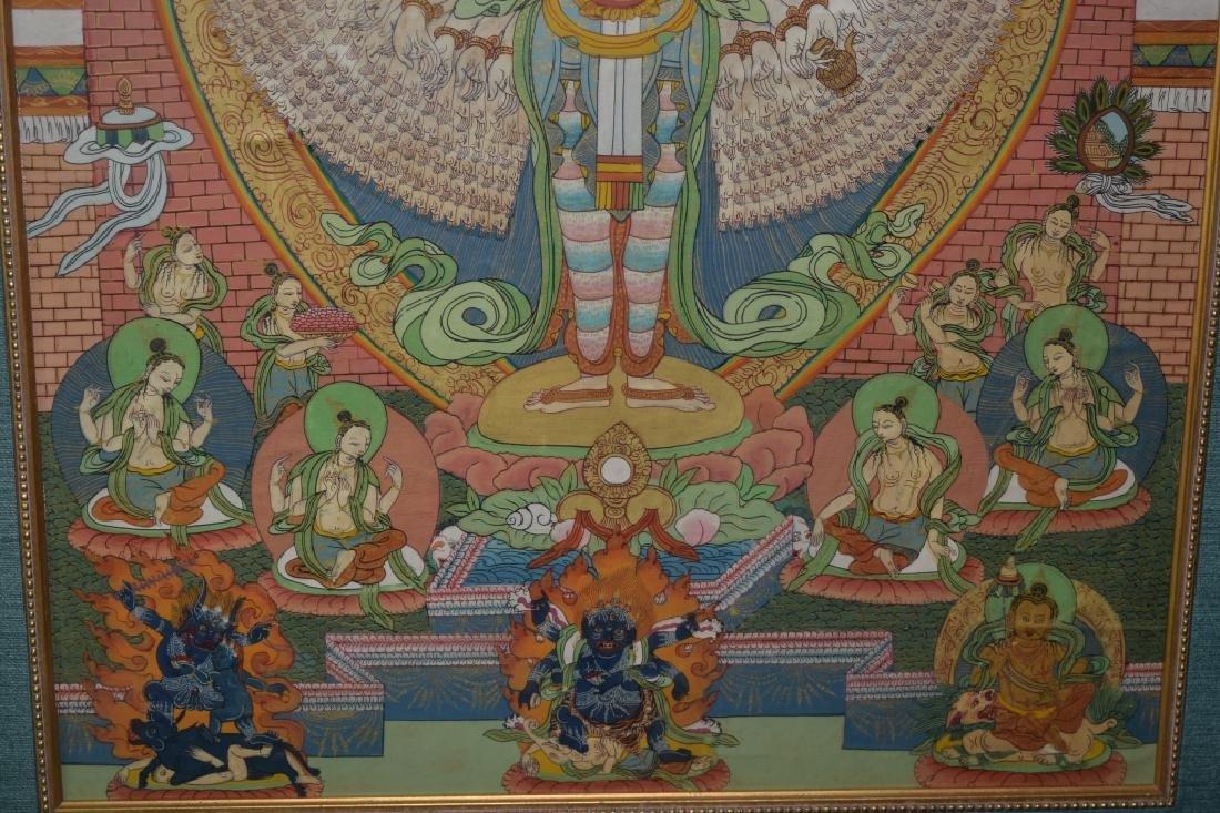 Qing Dynasty Tibetan Eleven-Face Guanyin Thangka - 5