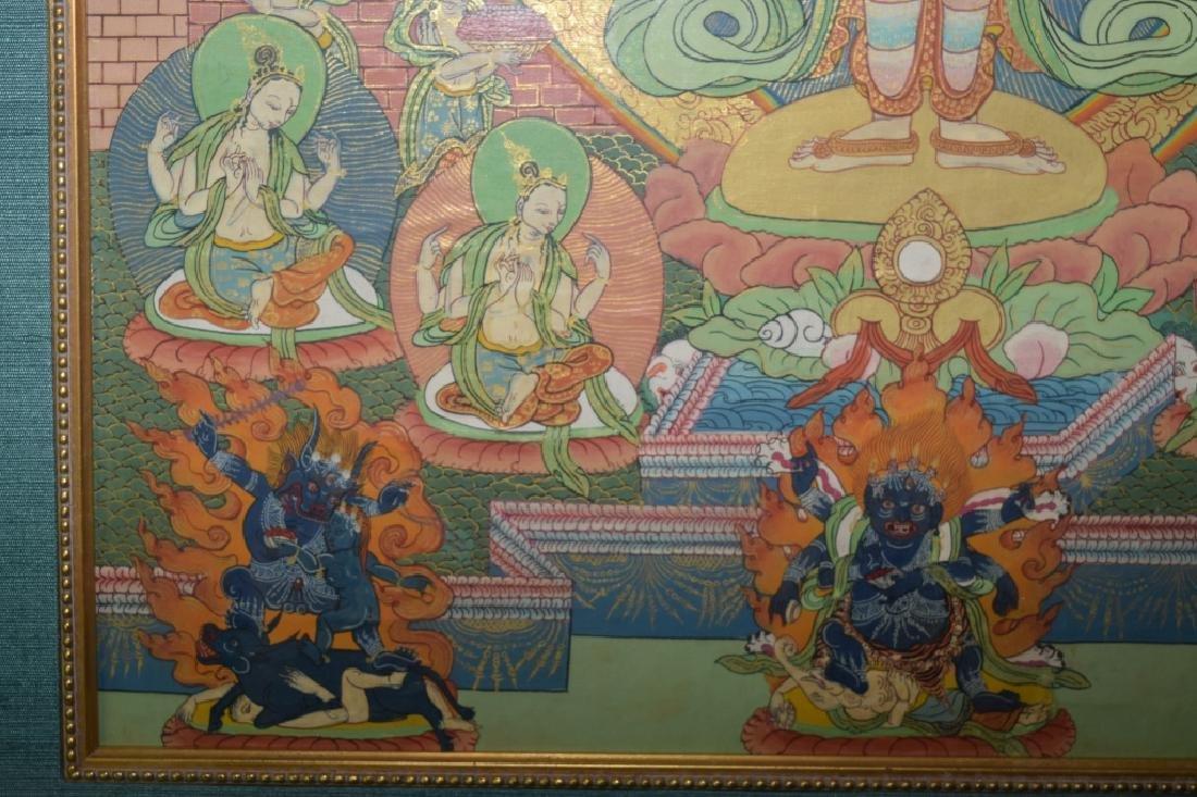 Qing Dynasty Tibetan Eleven-Face Guanyin Thangka - 6