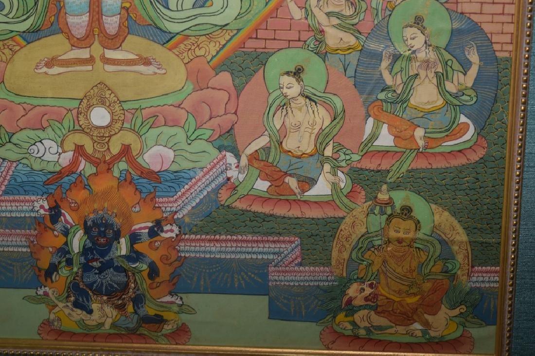 Qing Dynasty Tibetan Eleven-Face Guanyin Thangka - 8