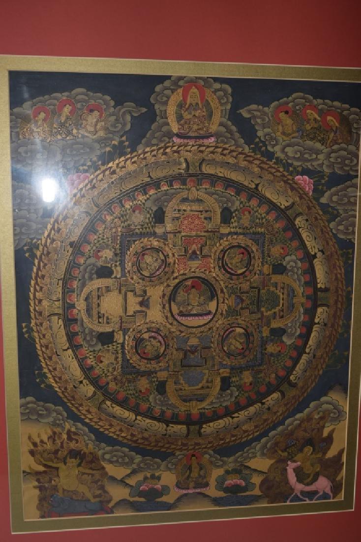 20th C. Tibetan Thangka in Frame