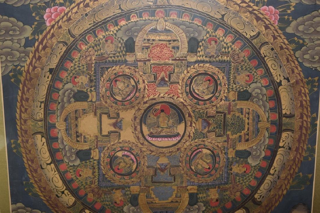 20th C. Tibetan Thangka in Frame - 2