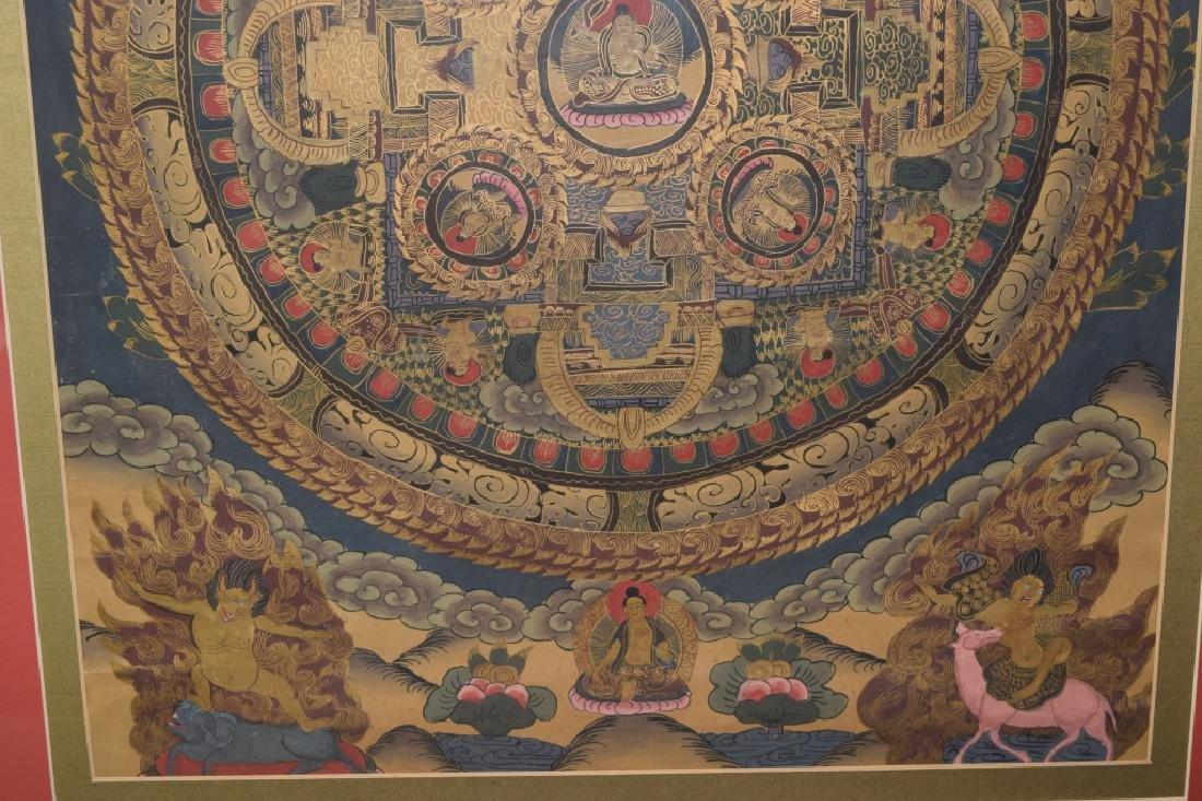 20th C. Tibetan Thangka in Frame - 3