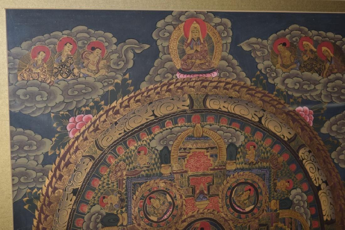 20th C. Tibetan Thangka in Frame - 4