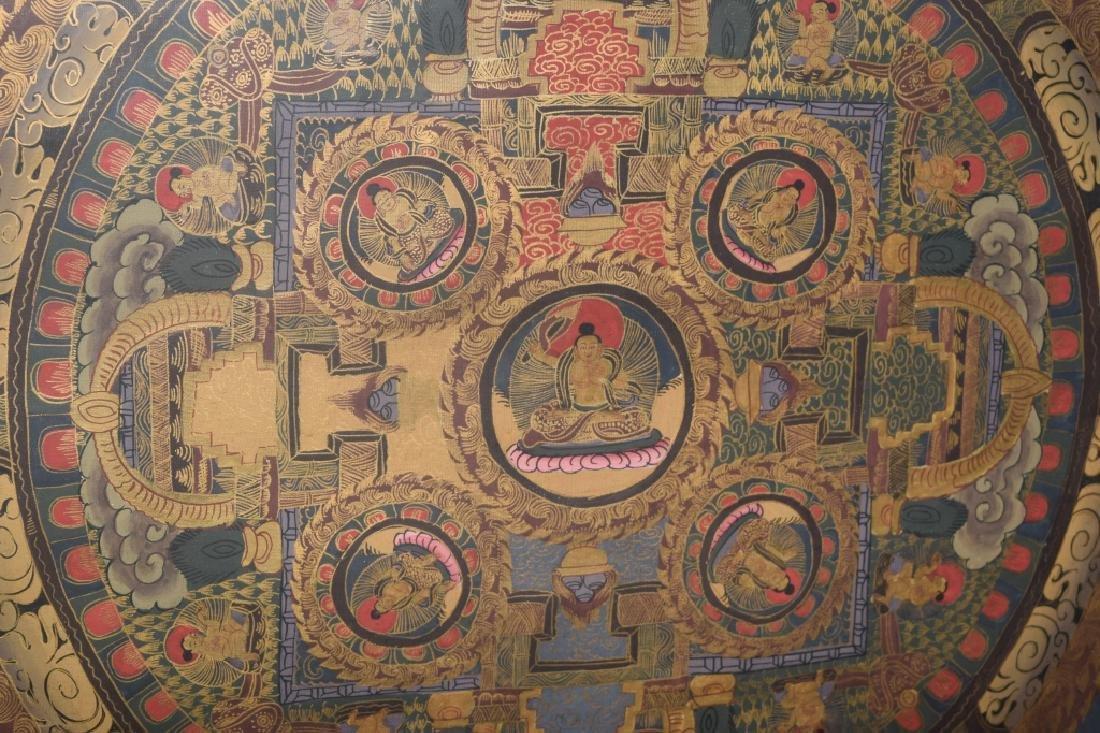 20th C. Tibetan Thangka in Frame - 5