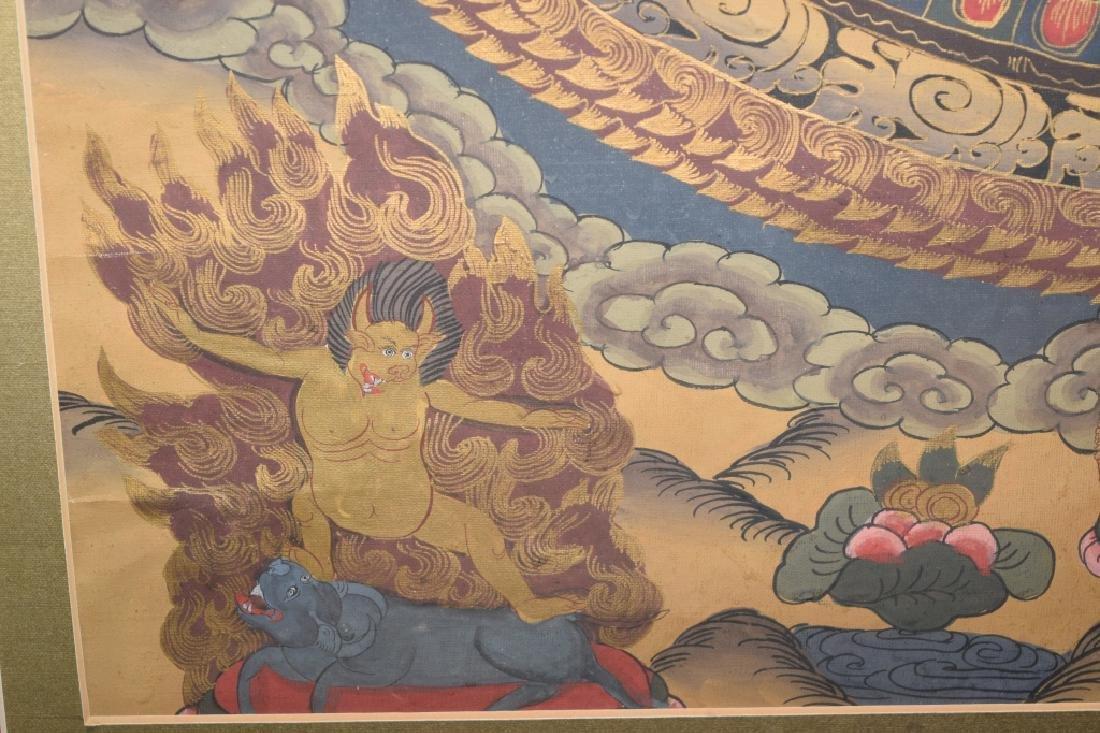 20th C. Tibetan Thangka in Frame - 6