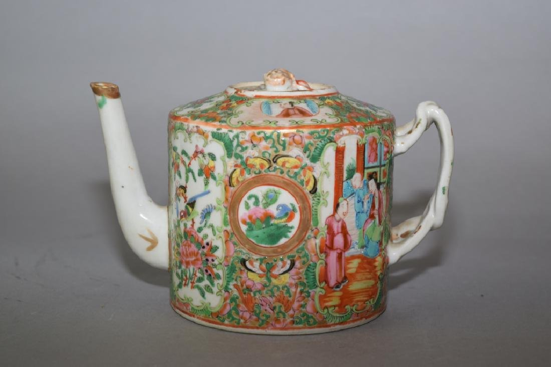 19th C. Chinese Famille Rose Medallion Teapot