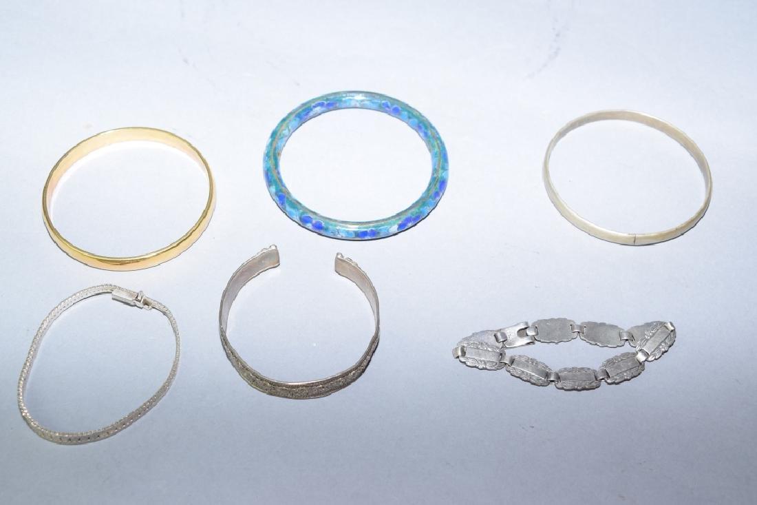 Group of Bracelets Including Sterling