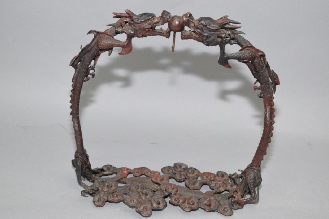 Japanese Bronze Dragon Brush Hanger