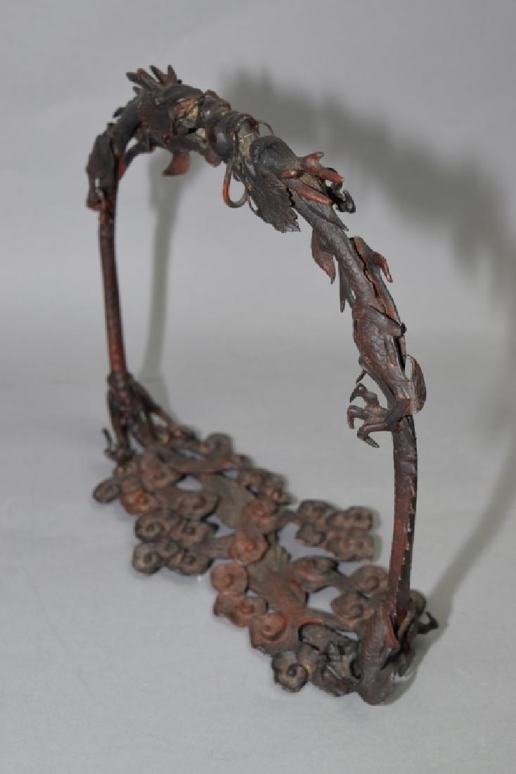 Japanese Bronze Dragon Brush Hanger - 5