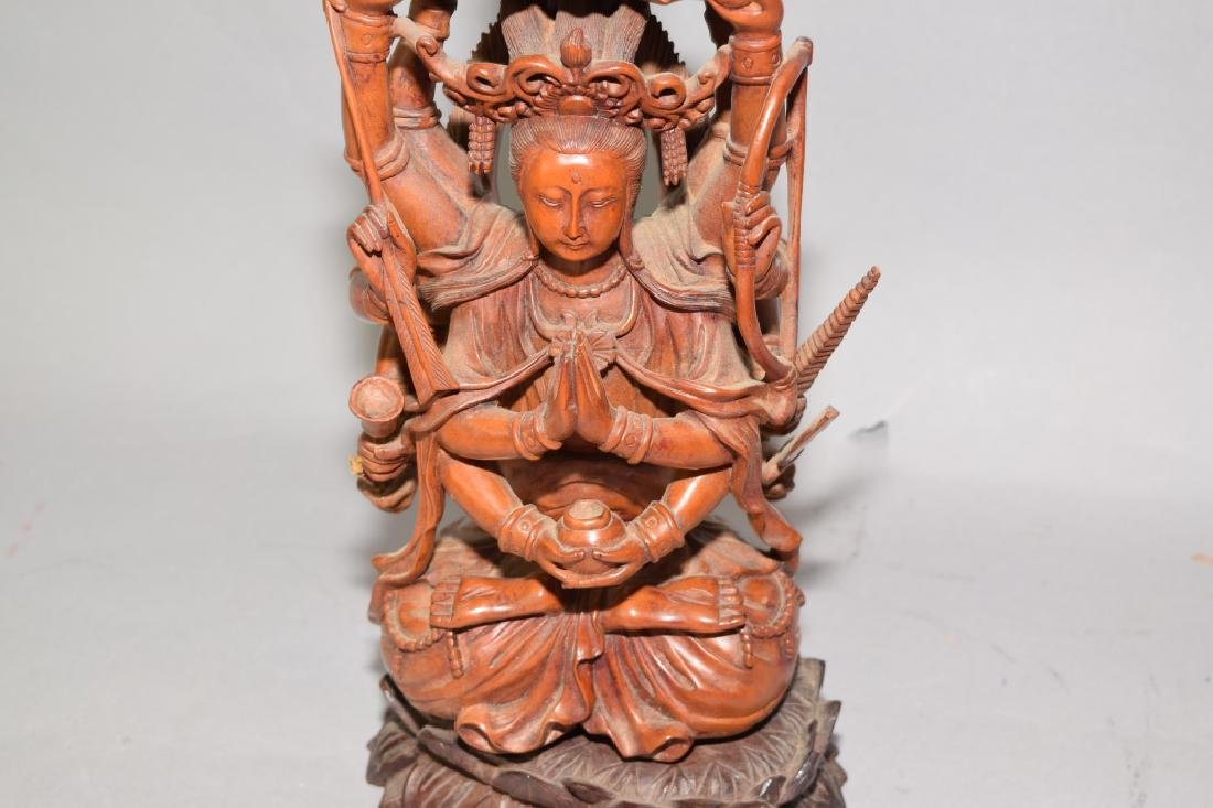 Chinese Wood Carved GuanYin - 3