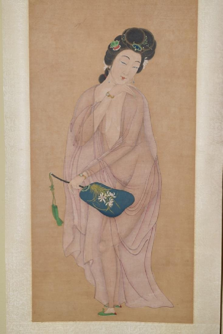 Qing Chinese Watercolor Erotic Painting