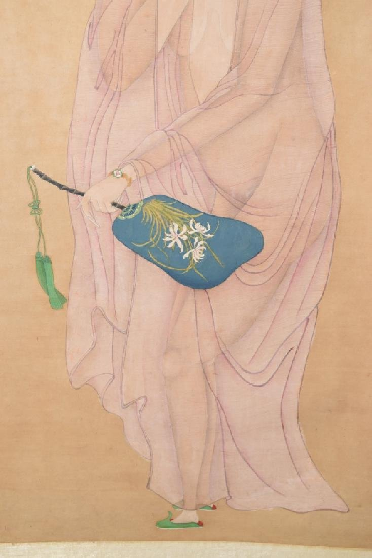 Qing Chinese Watercolor Erotic Painting - 3