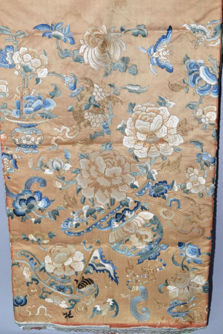 Qing Chinese Gold Thread DaZi Style Embroidery - 2