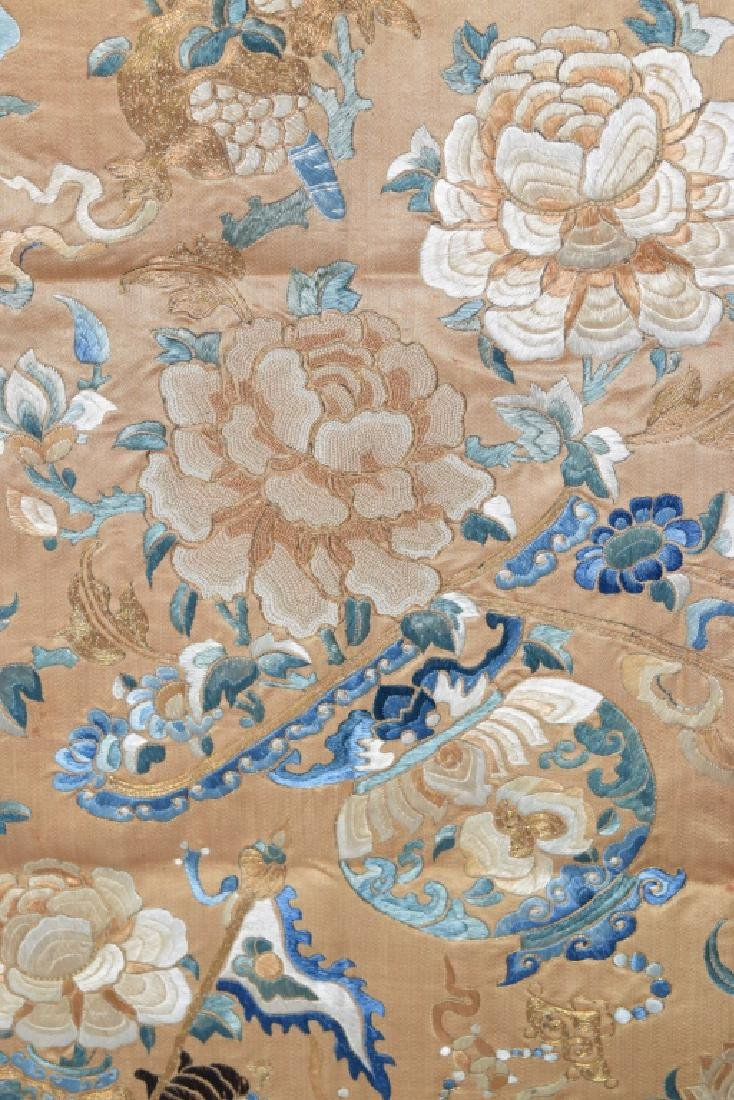Qing Chinese Gold Thread DaZi Style Embroidery - 3