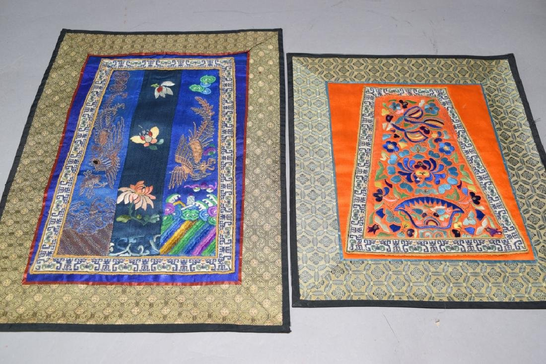 Two Chinese Embroideries