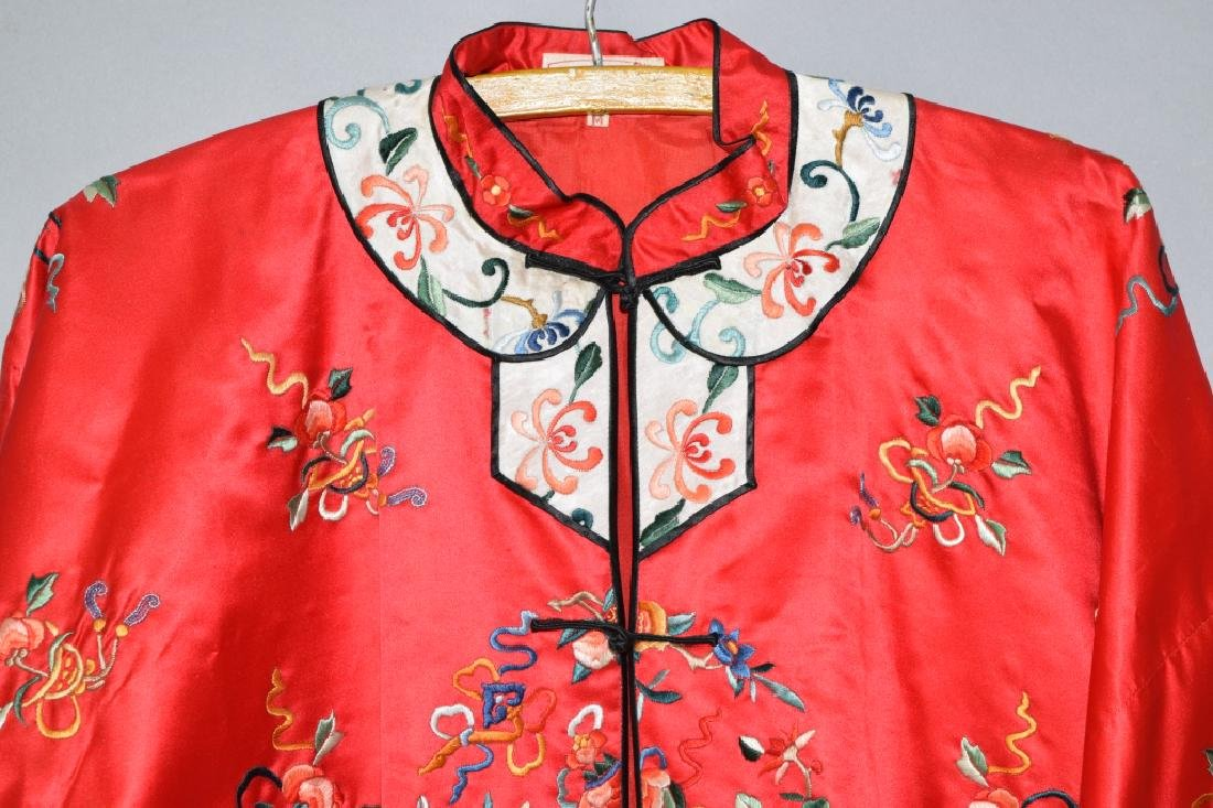 Chinese Red Embroidered Lady's Robe - 2