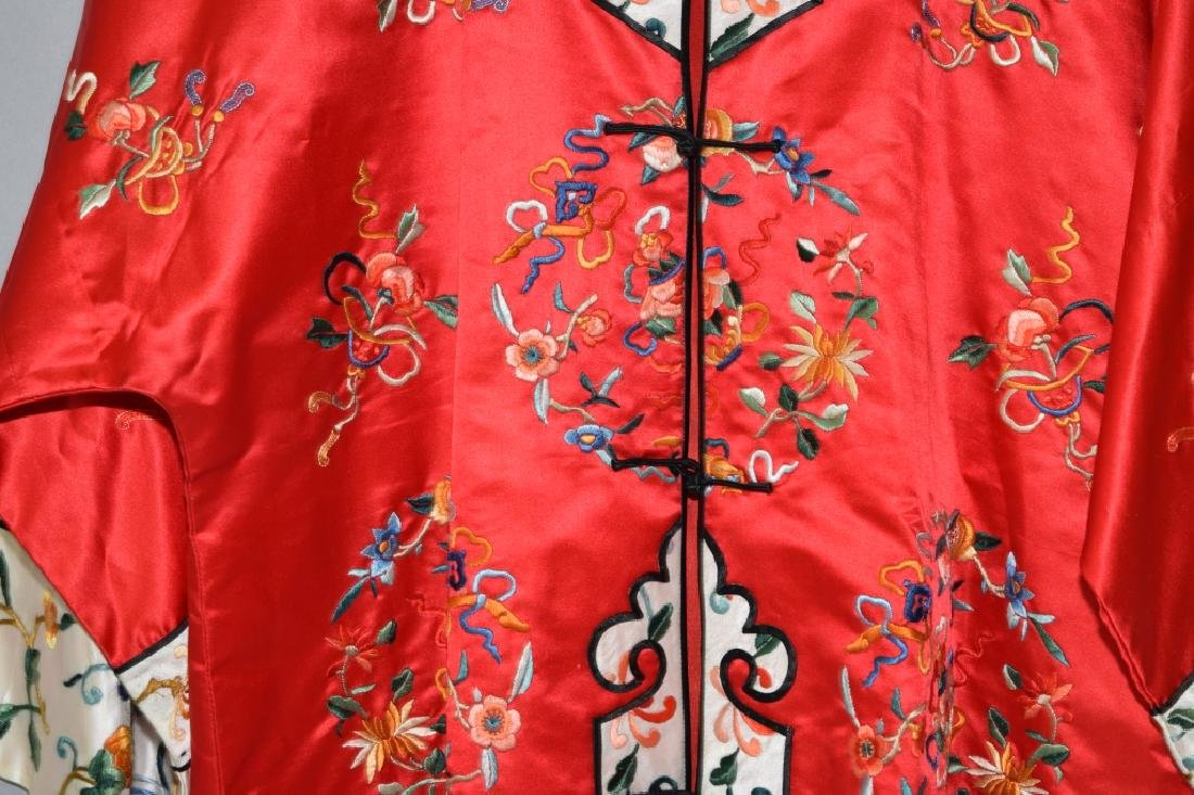 Chinese Red Embroidered Lady's Robe - 4