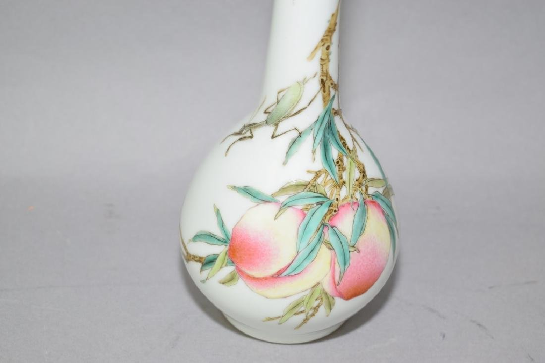 Republic Chinese Famille Rose Vase - 3