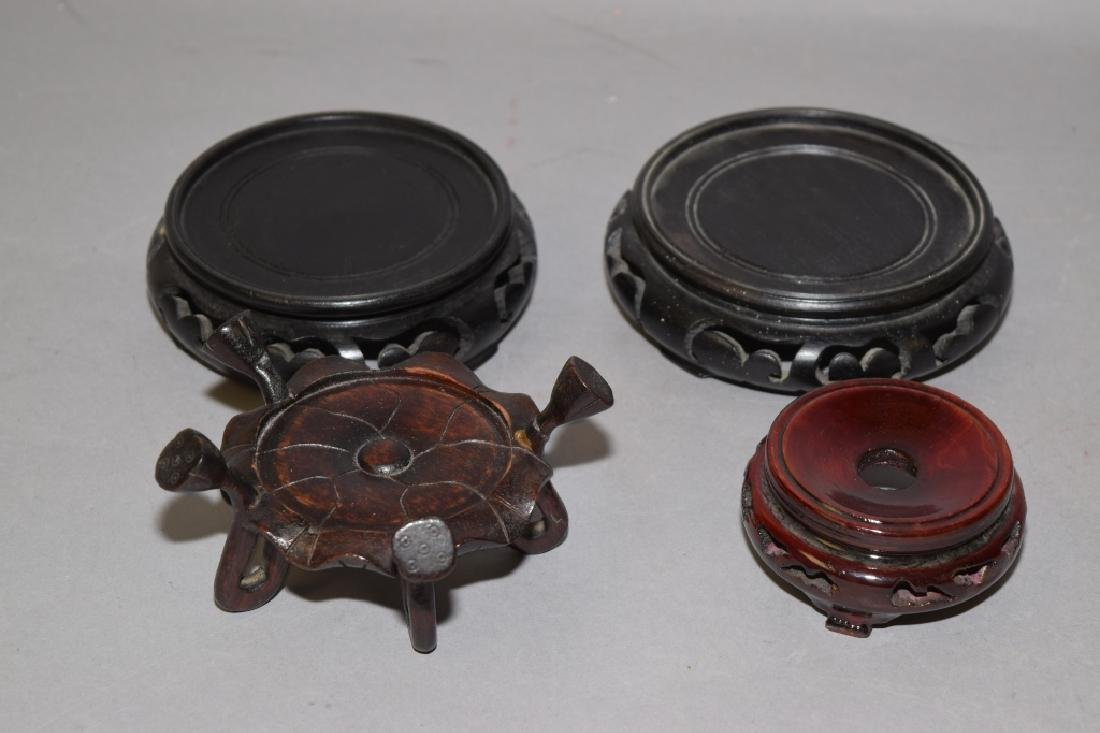 Four Chinese Wood Carved Stands