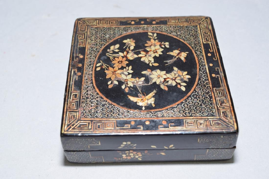 Chinese Mother-of-Pearl Inlaid Lacquer Box, Jiang