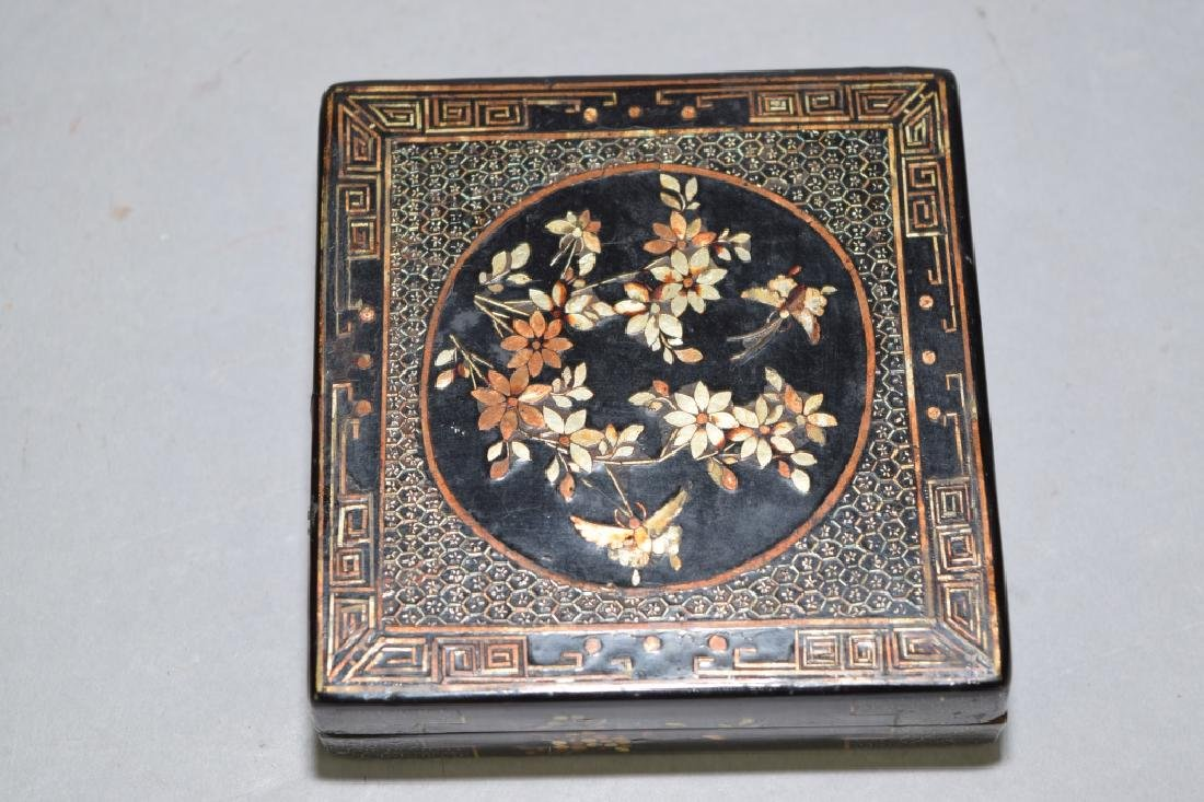 Chinese Mother-of-Pearl Inlaid Lacquer Box, Jiang - 2