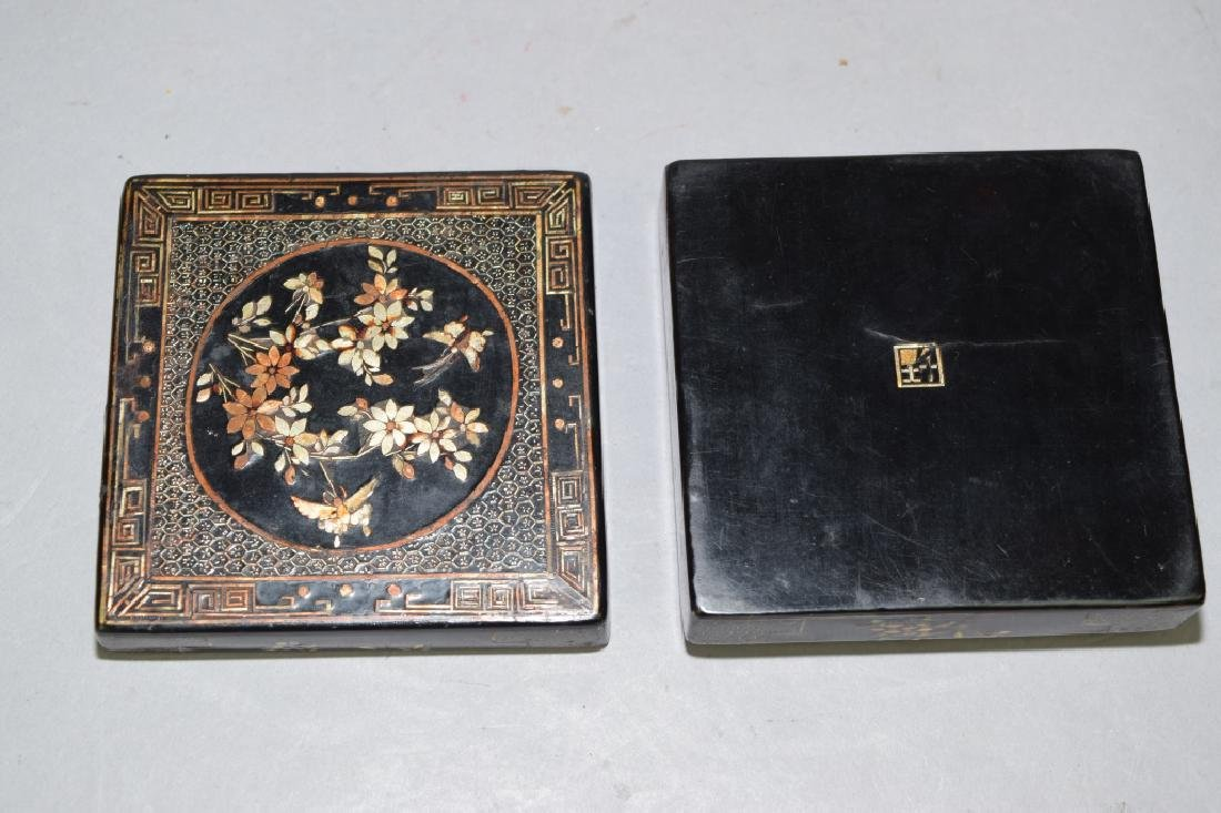 Chinese Mother-of-Pearl Inlaid Lacquer Box, Jiang - 3