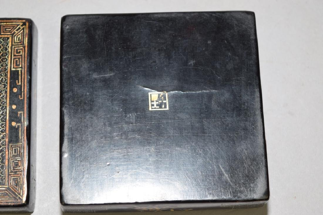 Chinese Mother-of-Pearl Inlaid Lacquer Box, Jiang - 4