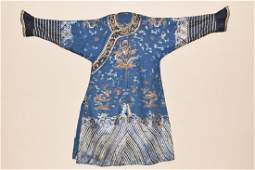 Qing Chinese Embroidered Emperor's Robe