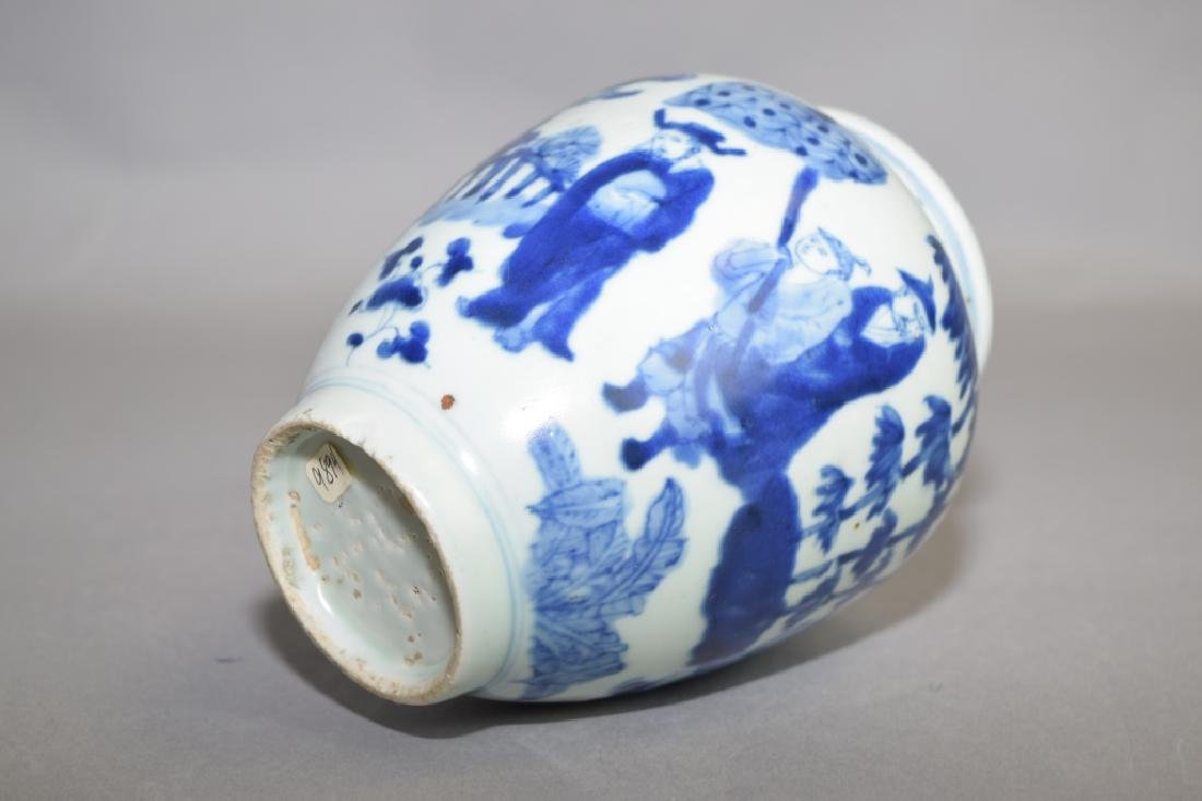 16-17th C. Chinese Blue and White Jar - 3