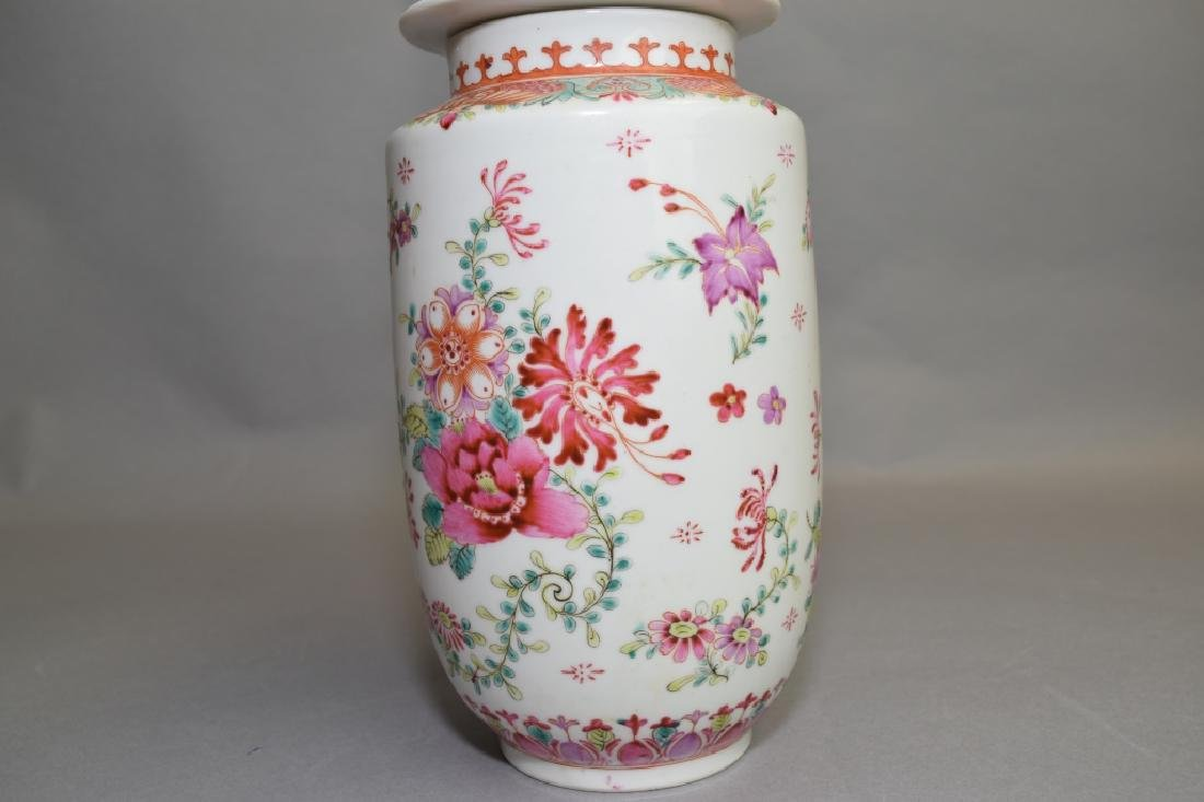 19-20th C. Chinese Export Famille Rose Covered Jar - 2