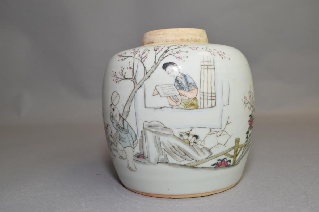 19-20th C. Chinese Famille Rose Jar