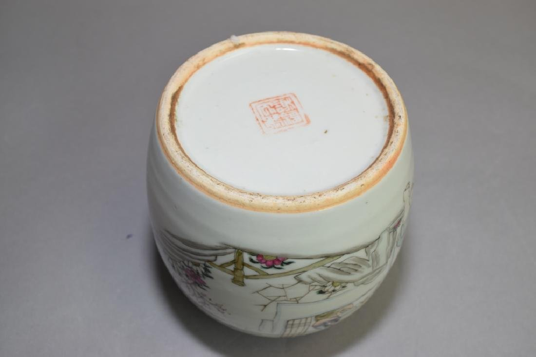 19-20th C. Chinese Famille Rose Jar - 3