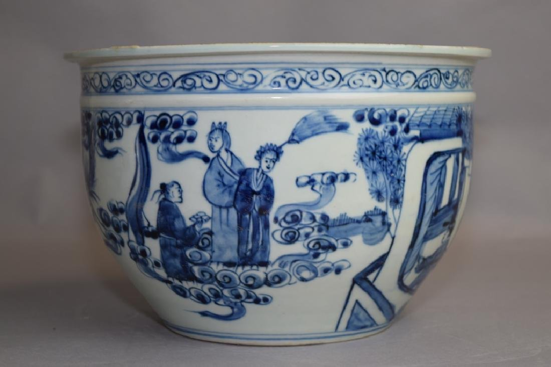 Ming Chinese Blue and White Jardiniere