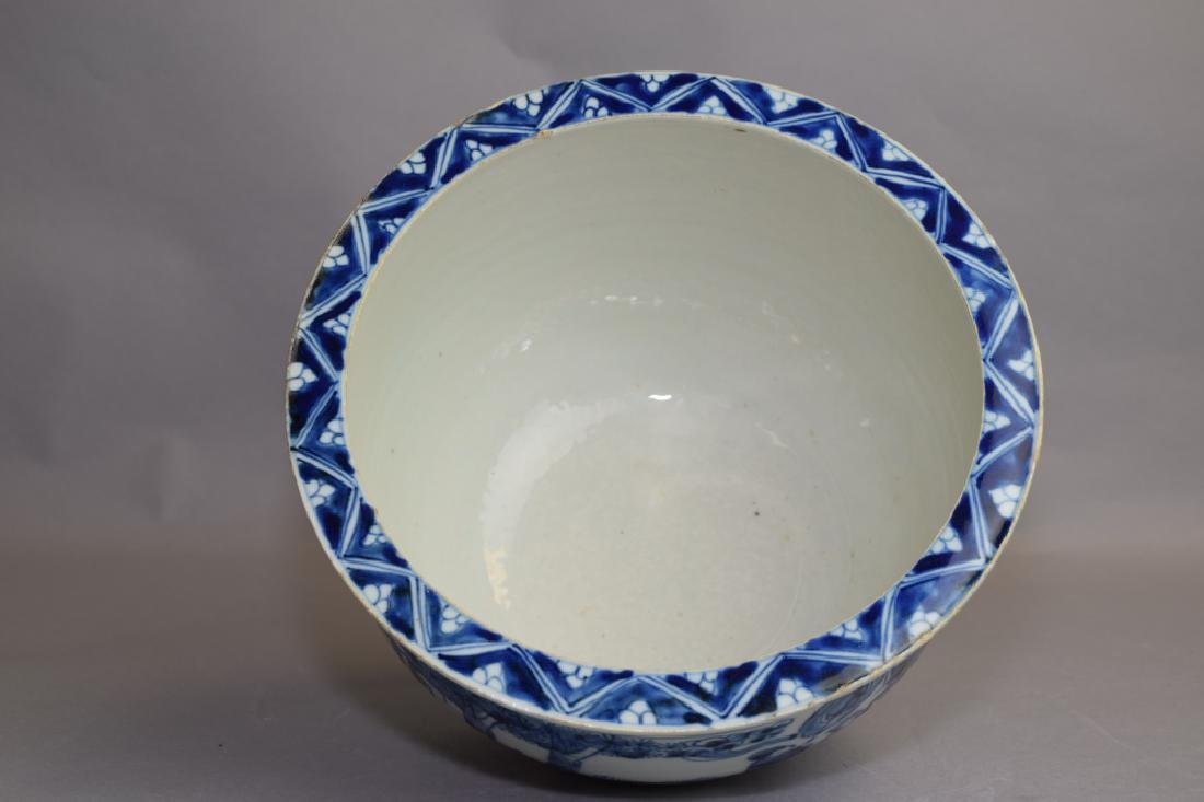Ming Chinese Blue and White Jardiniere - 3