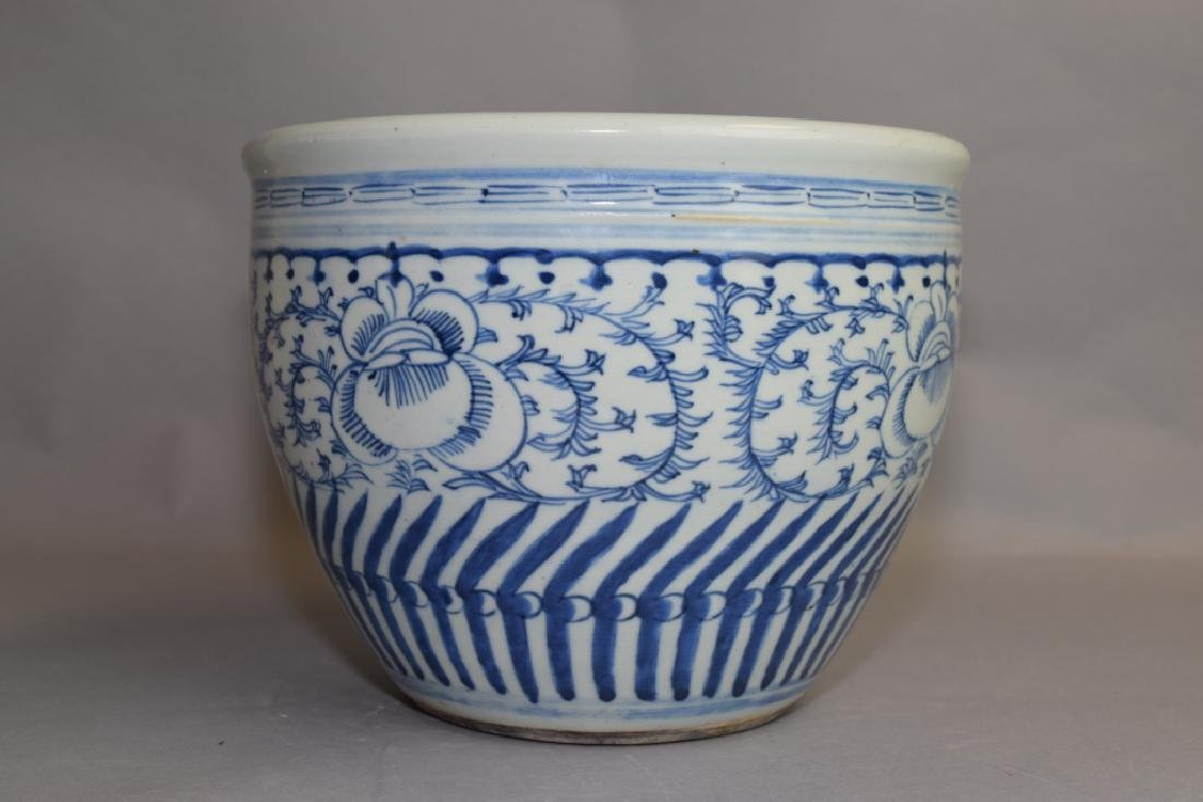Qing Chinese Blue and White Jardiniere
