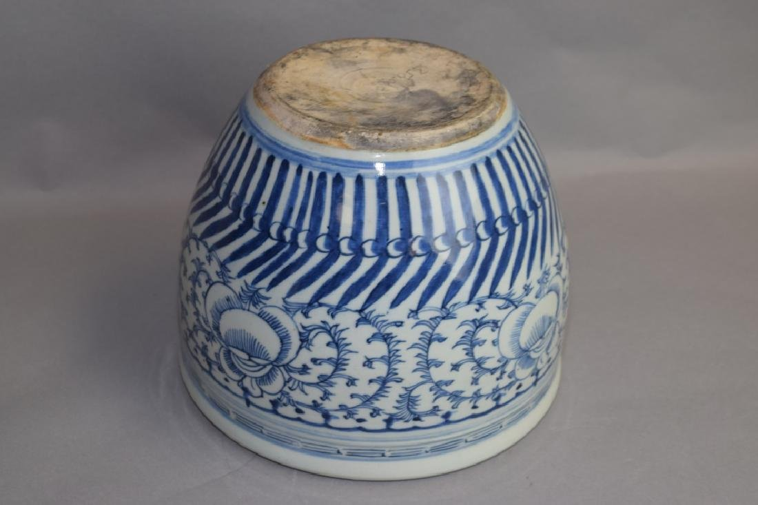 Qing Chinese Blue and White Jardiniere - 3