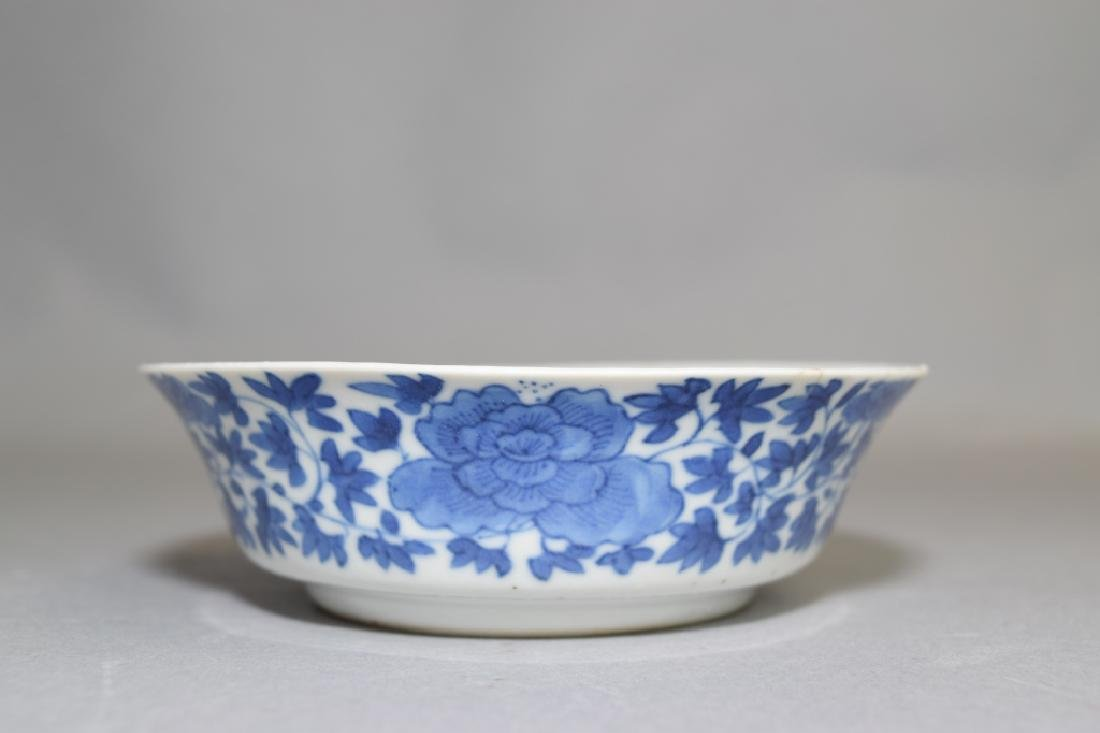 Republic Chinese Blue and White Bowl