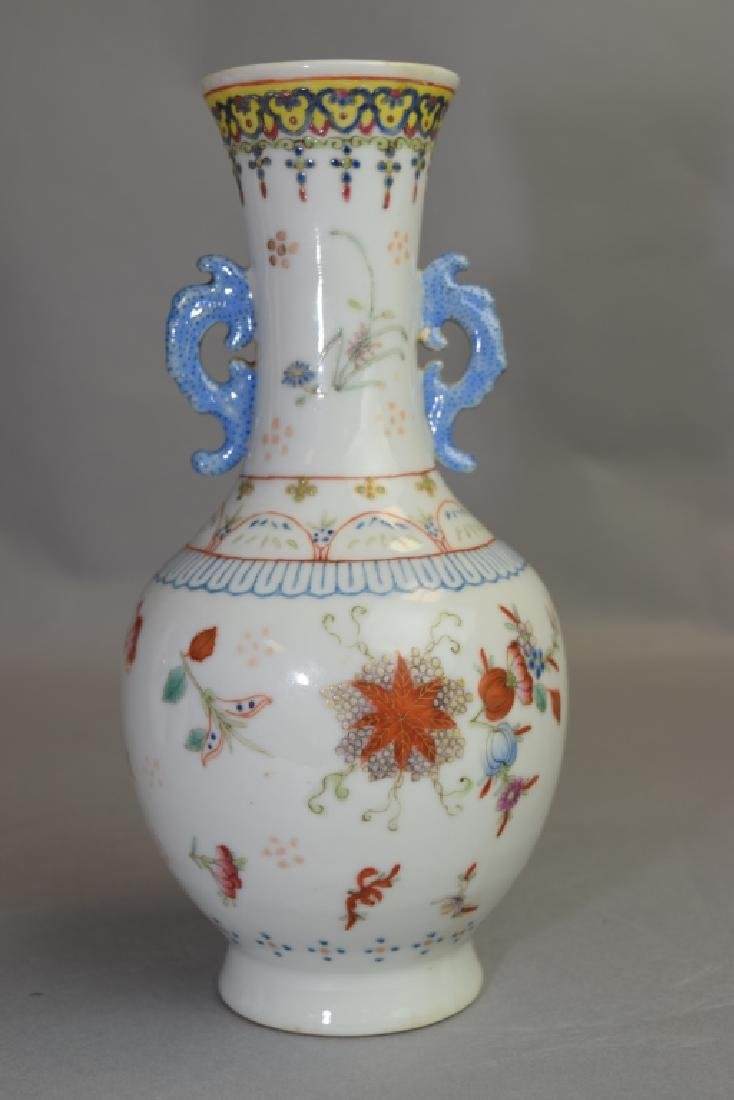 19-20th C. Chinese Famille Rose Vase