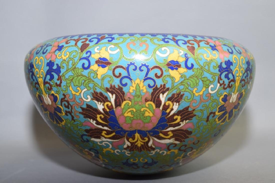 Mid-20th C. Chinese Cloisonne Mandicant