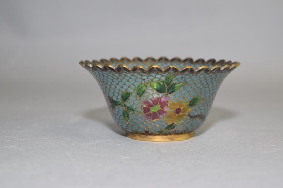 Chinese Peking Glass Cloisonne Cup