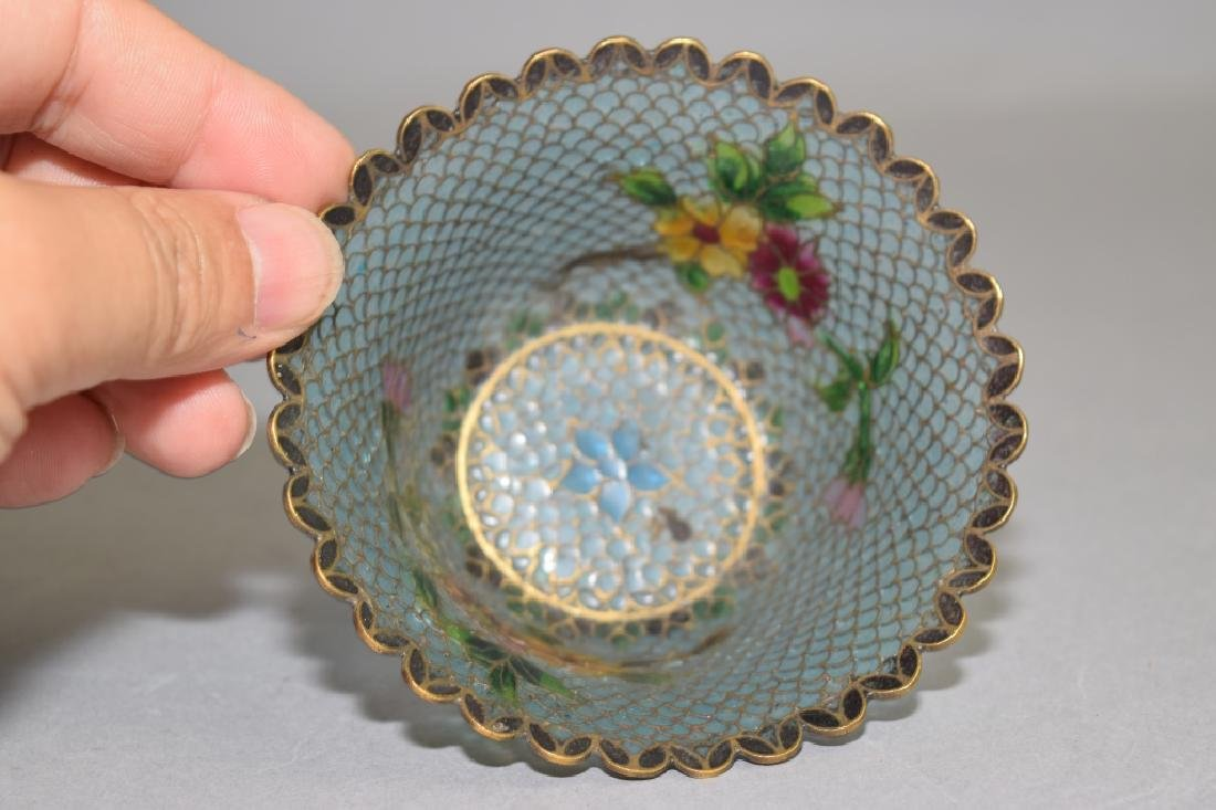 Chinese Peking Glass Cloisonne Cup - 2